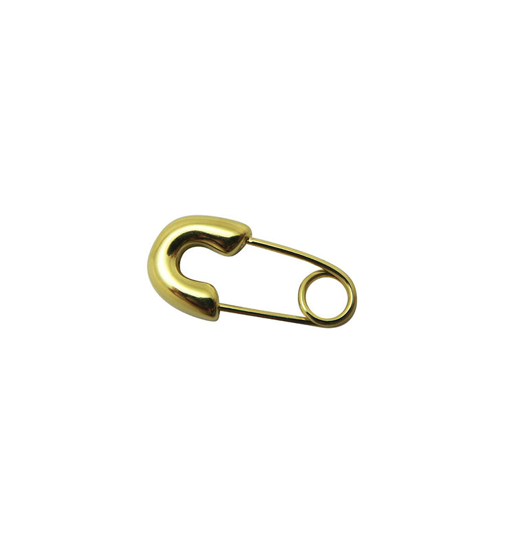safety pin mini guld • singelörhänge