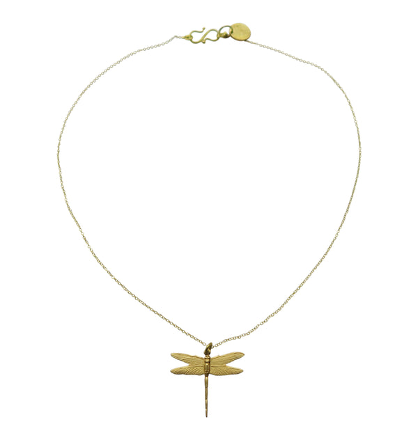 Small dragonfly • halsband mässing