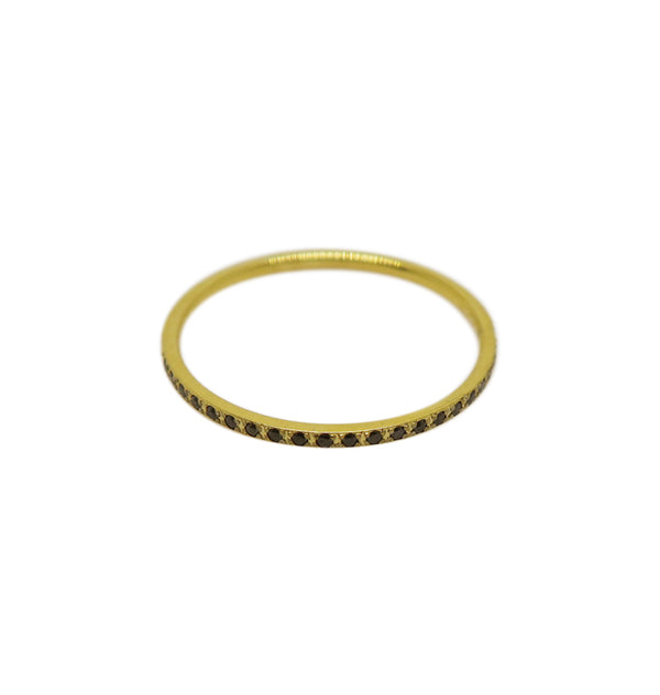 Spot ring black • gold