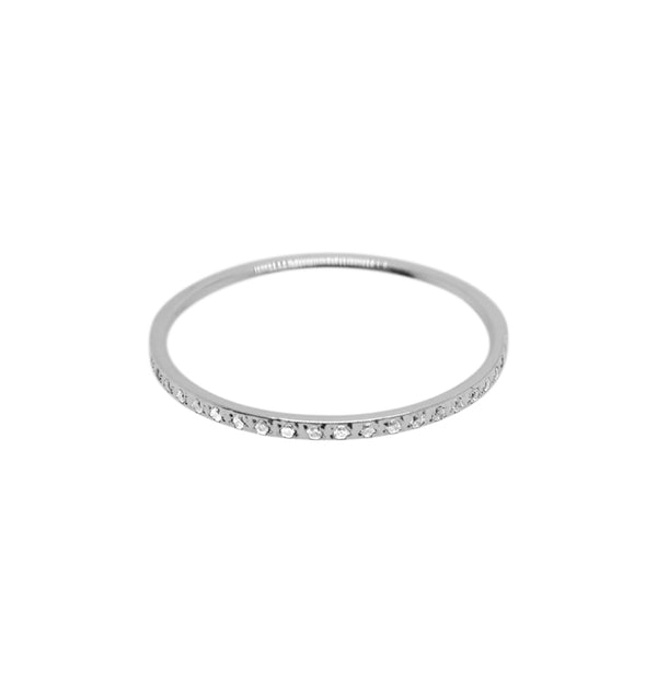 spot ring clear• silver