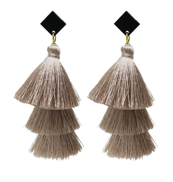 Stacked Tassels • Beige