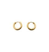 Thick gold hoops • 15mm