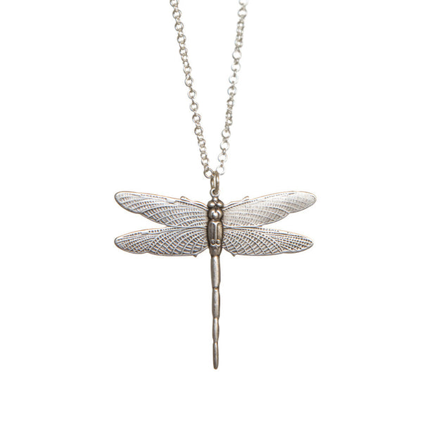 Dragonfly • halsband silver