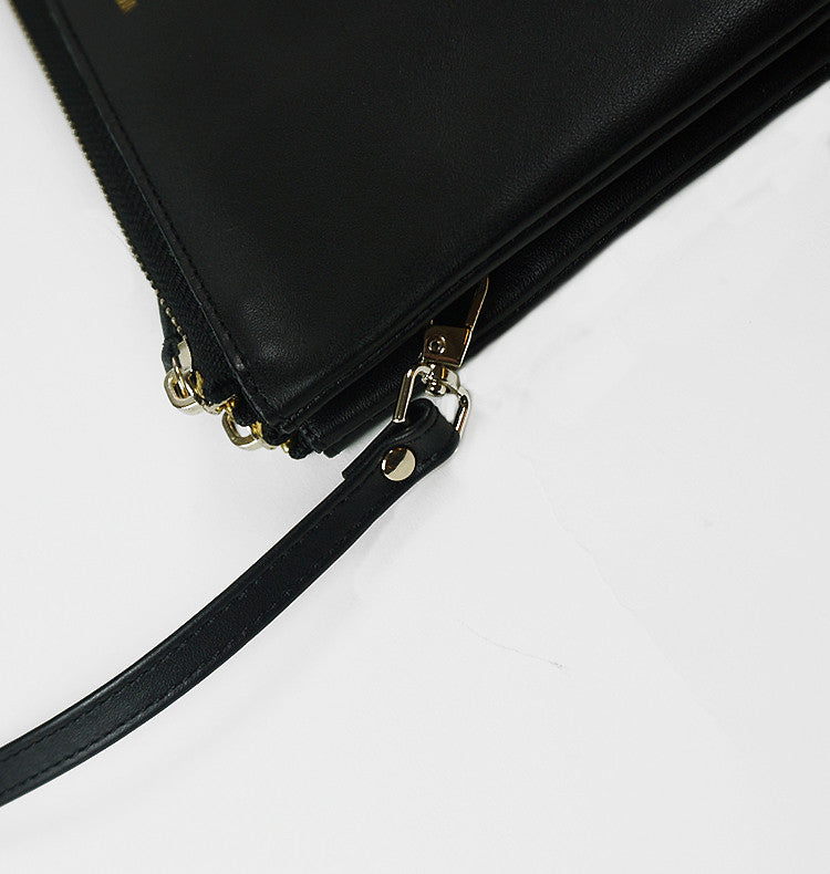 Zeppelin • zipper black leather