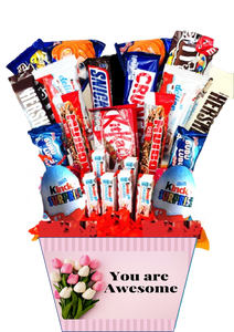Bouquet de Regalo con Chocolates Awesome