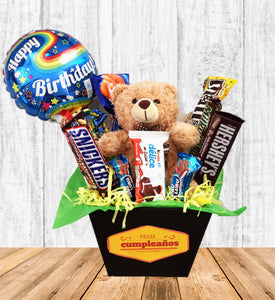 Regalo con peluche y chocolates Hugs