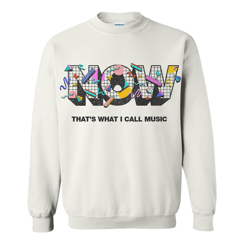 NOW White Crewneck Sweatshirt