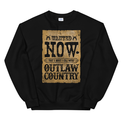 NOW Outlaw Country Crewneck Sweatshirt