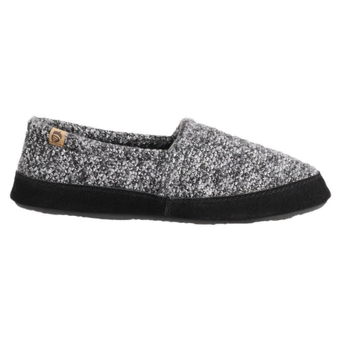 Acorn Slipper Acorn Mens Moc Slippers - Black Tweed