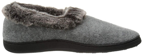 Acorn Slipper Acorn Womens Chinchilla Collar Slippers  - Stone