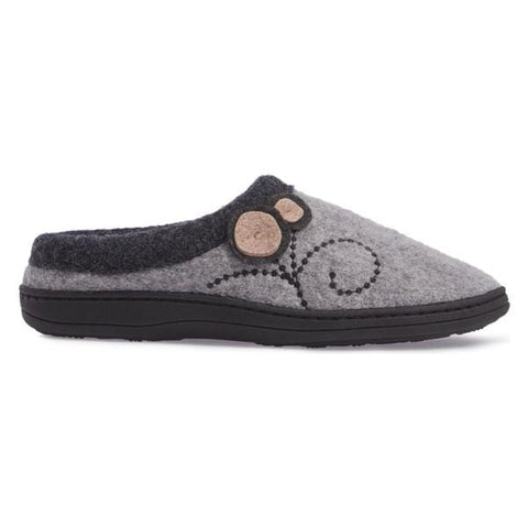Acorn Slipper Acorn Womens Dara Slippers - Light Grey Button