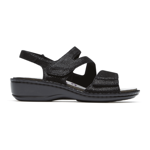 Aravon Sandals Black / 5 / D Aravon Womens Cambridge 3 Straps - Black