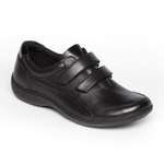 Aravon Shoe Aravon Womens Bromly Double Strap Shoes - Black