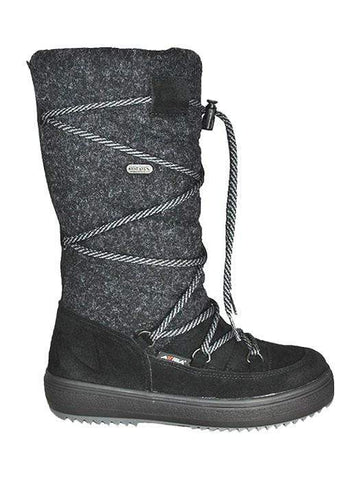 Attiba Boots BLACK / 36EU / M Attiba Womens Felt High Boots - Black