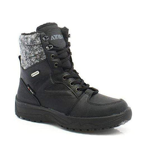 Attiba Boots BLACK / 36EU / M Attiba Womens Felt Low Ice Grip Spike Boots - Black