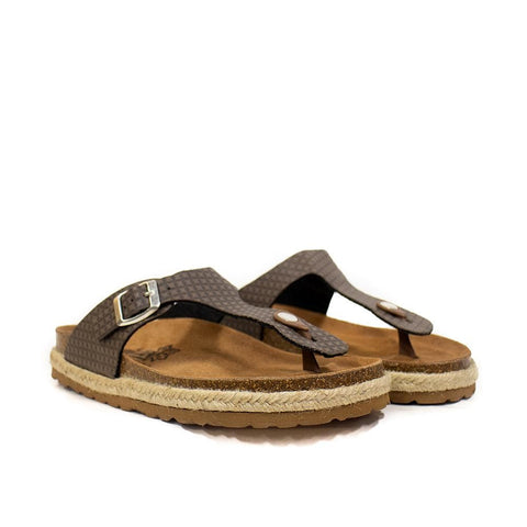 Big Leaf Sandals Beige / 35 / M Big Leaf Womens Sandal - Beige