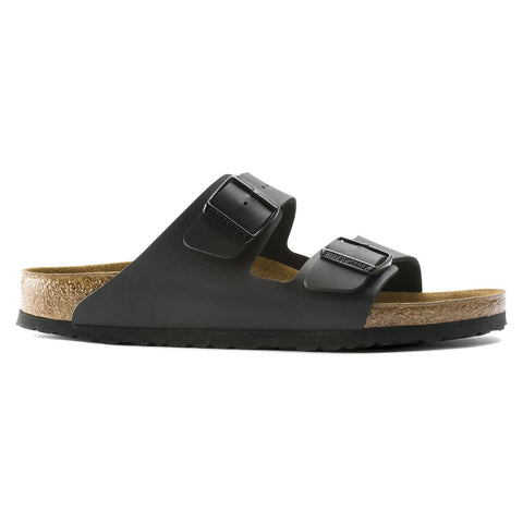 Birkenstock Sandals Black / 35 / Narrow Birkenstock Arizona Two Strap Sandals - Black Birko-Flor