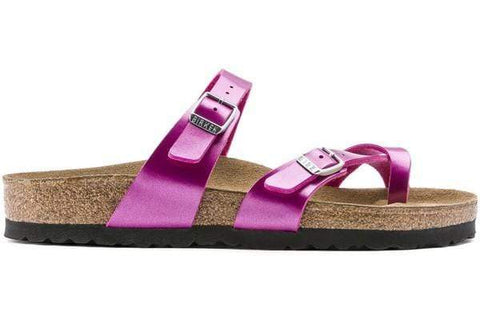 Birkenstock Sandals Metallic Cuts Magenta / 35 / Regular Birkenstock Mayari Toe Loop Sandals - Metallic Cuts Magenta Birko-Flor