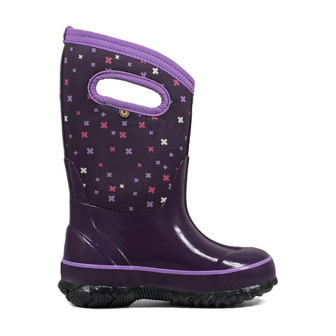Bogs Kids Boots Eggplant Multi / 1M / M Bogs Kids Classic Plus Insulated Boot 72278 - Eggplant Multi 551