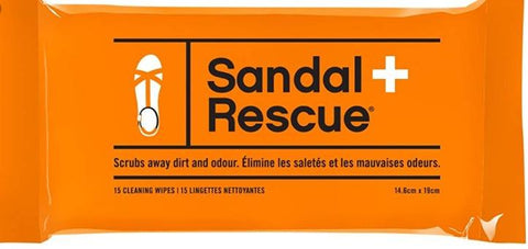 Boot Rescue Shoe Care Sandal Rescue (15 Cleaning Wipes/Pack)
