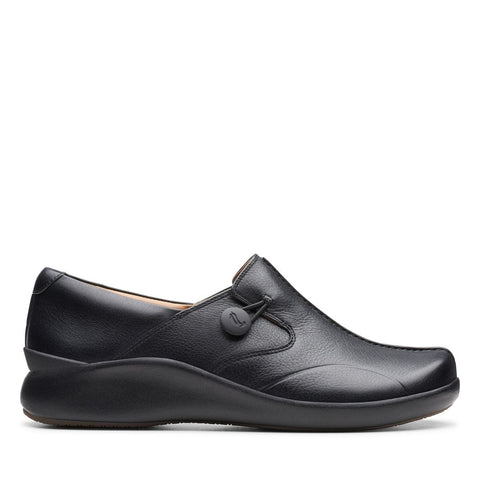 Clarks Shoe Black Leat / 7 / N Clarks Womens Un Loop2 Walking Shoes - Black Leather