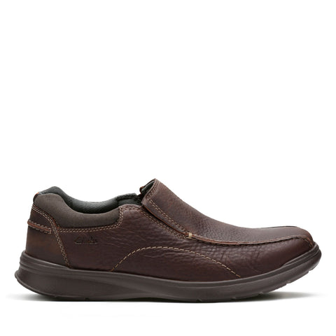 Clarks Shoe Brown Oily / 7 US / M Clarks Mens Cotrell Step Slip On Shoes - Brown Oily