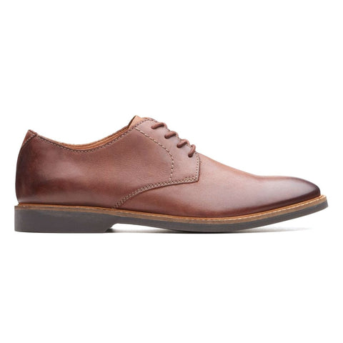 Clarks Shoe Mahogany Leather / 7 US / M Clarks Mens Atticus Lace Dress Oxfords - Mahogany Leather