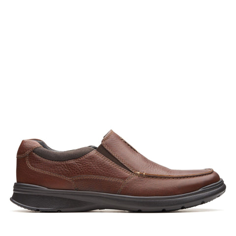 Clarks Shoe Tobacco Leather / 7 US / M Clarks Mens Cotrell Free Slip On Shoes - Tobacco Leather