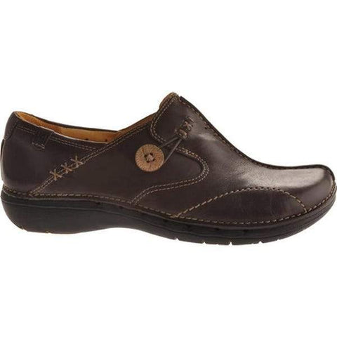 Clarks Slip On Brown / 5 / M Clarks Womens Un Loop Slip On Shoes - Brown