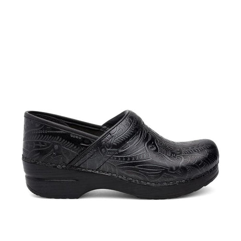 Dansko Shoe Black / 36 EU / 5.5-6 W US / W (Wide) Dansko Womens Professional Clogs (Wide) - Black Tooled