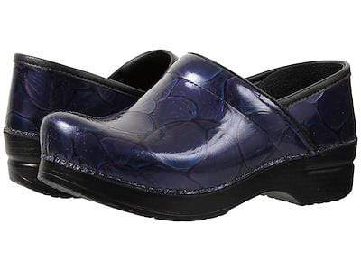 Dansko Shoe Black Hibiscus / 36 / M (Medium) Dansko Womens Professional Clogs - Black Hibiscus Patent