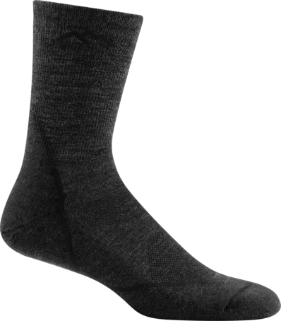 Darn Tough Vermont Socks Black / L Darn Tough Mens Light Hiker Micro Crew Light Cushion Socks 1972