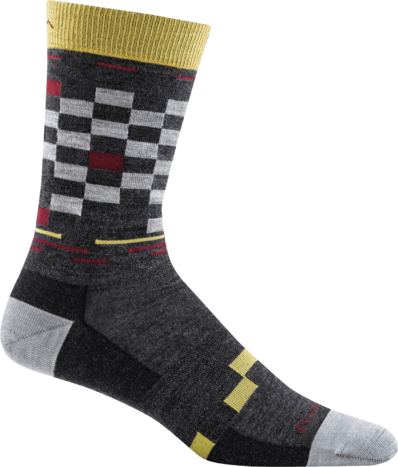 Darn Tough Vermont Socks Charcoal / L Darn Tough Mens Derby Crew Light Socks 6020 - Charcoal