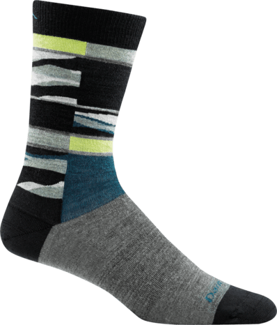 Darn Tough Vermont Socks Gray / L Darn Tough Mens Icefields Light Crew Socks 6019 -Gray