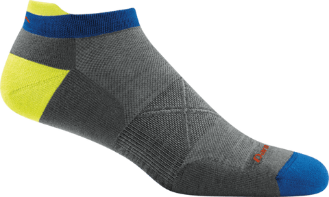 Darn Tough Vermont Socks Gray / L Darn Tough Mens No Show Tab Ultra Light Socks 1024 - Gray