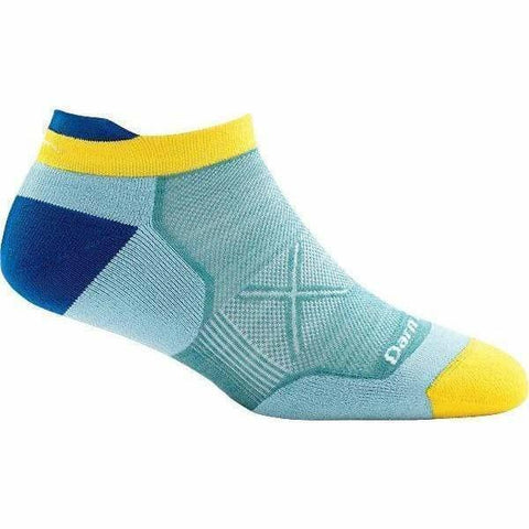Darn Tough Vermont Socks Light Blue / XS Darn Tough Womens No Show Tab Ultra-Light Cushion Running Sock 1018 - Light Blue
