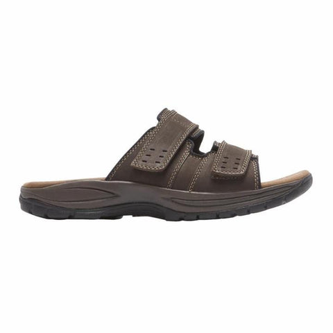 Dunham Sandals Dark Brown / 7 / 4E Dunham Mens Newport Slide Sandals - Dark Brown