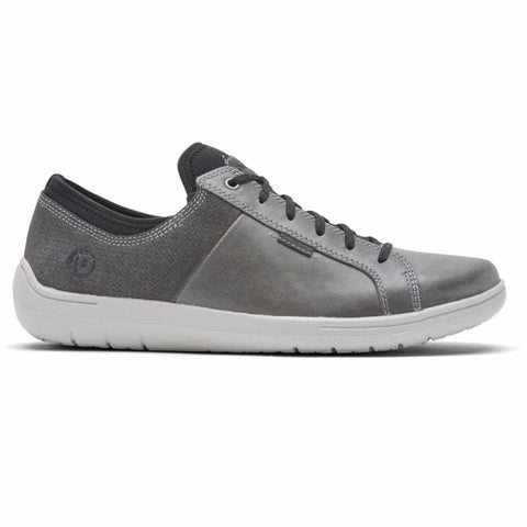 Dunham Shoe Grey/Blue / 7 / 4E Dunham Mens Fitsmart Lace to Toe Sneakers - Grey/ Blue