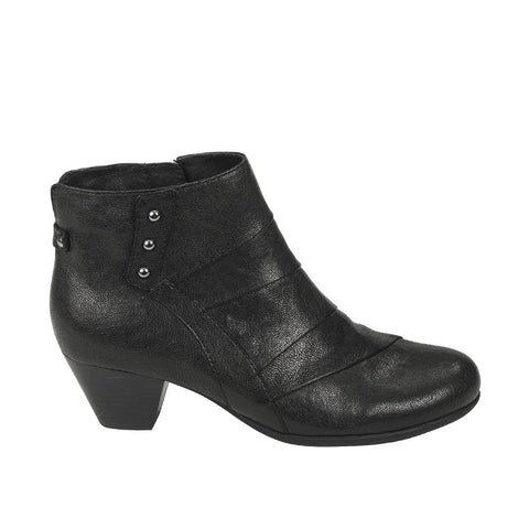 Earth Boots BLACK / 5 US / M Earth Womens Hope Ankle Boots - Black Brush Off Leather