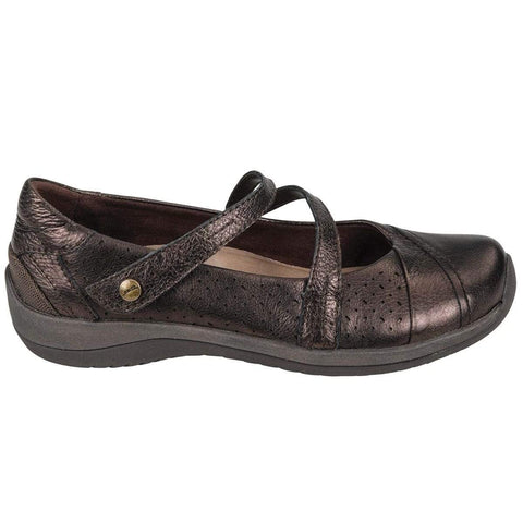 Earth Shoe BRONZE / 5 / M Earth Womens Newton Mary Jane Shoes - Bronze Metallic Leather