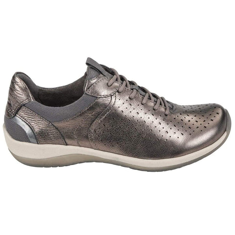 Earth Shoe PEWTER / 5 / M Earth Womens Kepler Walking Sneakers - Pewter Metallic Leather