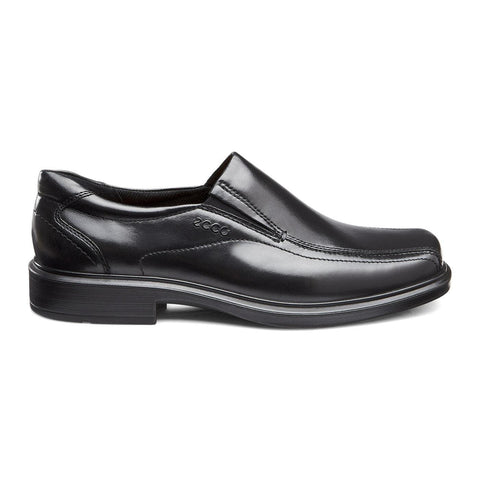 Ecco Shoe Black / 38 EU / M Ecco Mens Helsinki Bike Toe Slip On Dress Shoes - Black