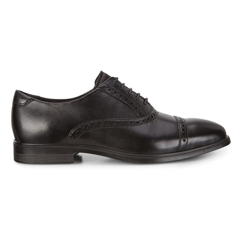 Ecco Shoe Black / 38 EU / M Ecco Mens Melbourne Cap Toe Tie Dress Shoes - Black