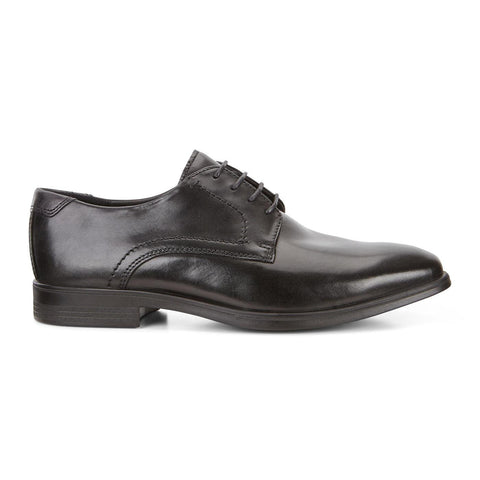 Ecco Shoe Black/Magnet / 38 EU / M Ecco Mens Melbourne Tie Dress Shoes - Black/ Magnet