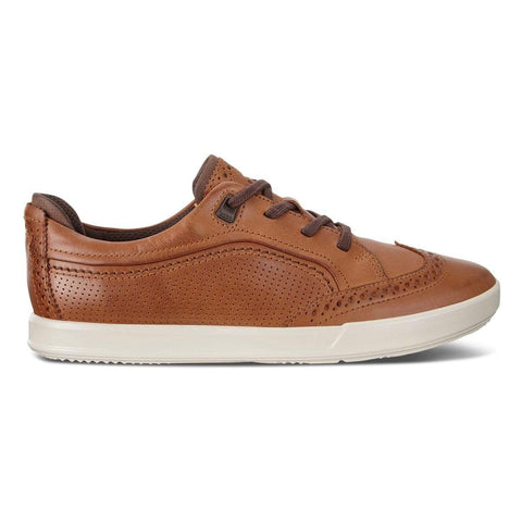 Ecco Shoe Cashmere/Coffee / 38 EU / M Ecco Mens Collin 2.0 Lace Brogue Sneakers - Cashmere/ Coffee