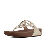 Fitflop Sandals Fitflop Womens Bumble Crystal Toe-Post Sandals - Gold