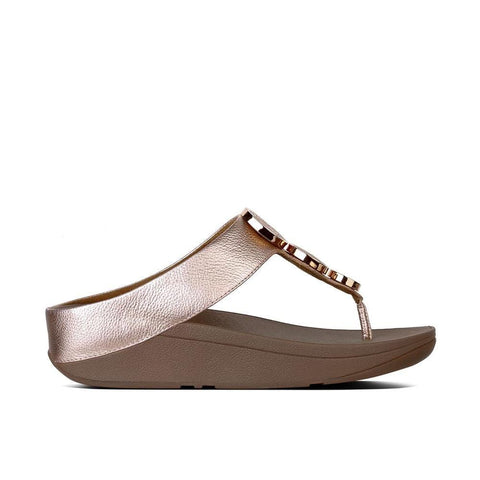 Fitflop Sandals Rose Gold / 5 US / M (Medium) Fitflop Womens Halo Toe-Thong Sandals I42 - Rose Gold 323