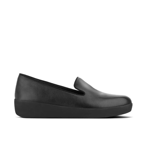 Fitflop Shoe Black / 5 US / M (Medium) Fitflop Womens Audrey Smoking Loafers - Black
