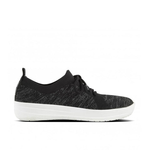 Fitflop Shoe Black / 5 US / M (Medium) Fitflop Womens F-Sporty Uberknit Sneakers - Black