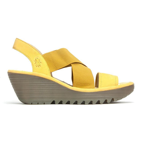 Fly London Sandals Bumblebee / 36 / M Fly London Womens Low Wedge Sandals - Bumblebee